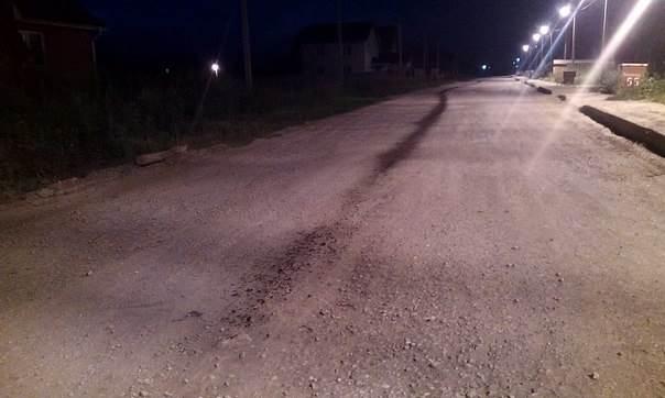 ФОТОФАКТ: Грустная встреча авто с камнем на ночной дороге в Бердске