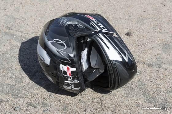 Мотоциклист в Бердске наехал на камень и пострадал