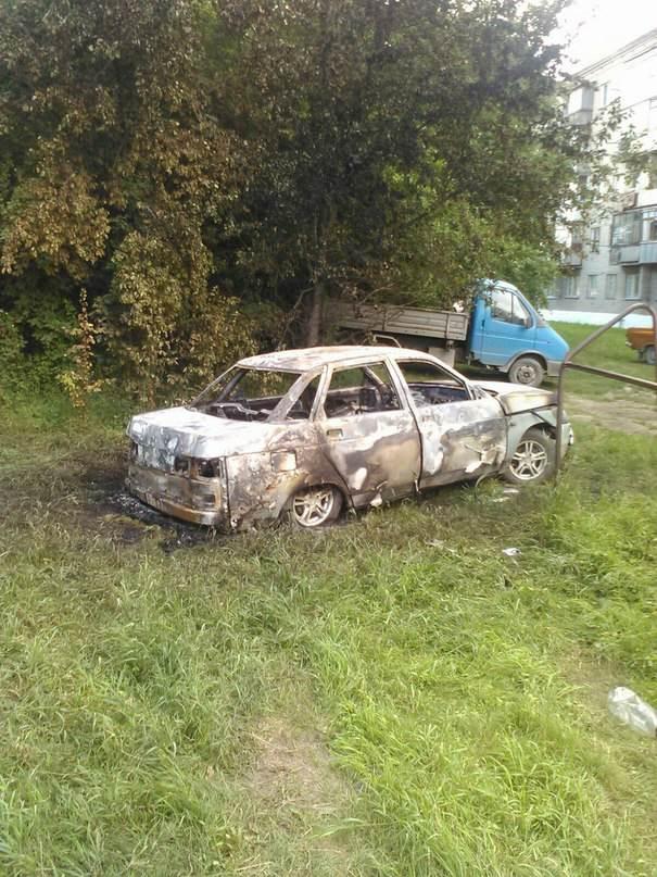 В Искитимском районе сгорел автомобиль