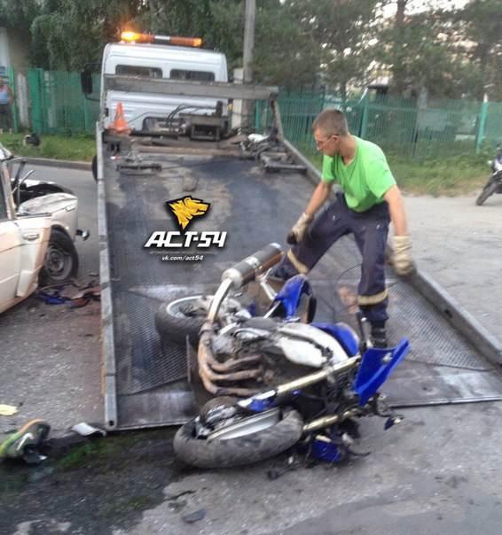 АСТ-54: Молодой мотоциклист разбился в районе ОбьГЭС