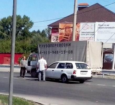 Из-за трех мелких ДТП два часа «стоял» участок трассы М-52 в Бердске