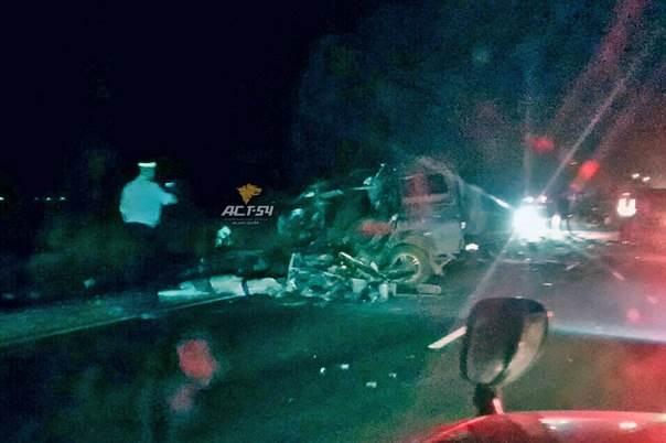 Водитель «Патриота» погиб в столкновении с грузовиком на трассе