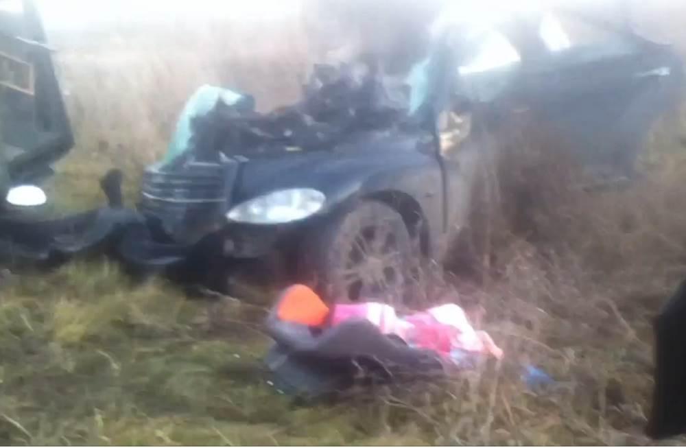 Водитель иномарки и ее 2-летняя дочь погибли на трассе под Кемерово