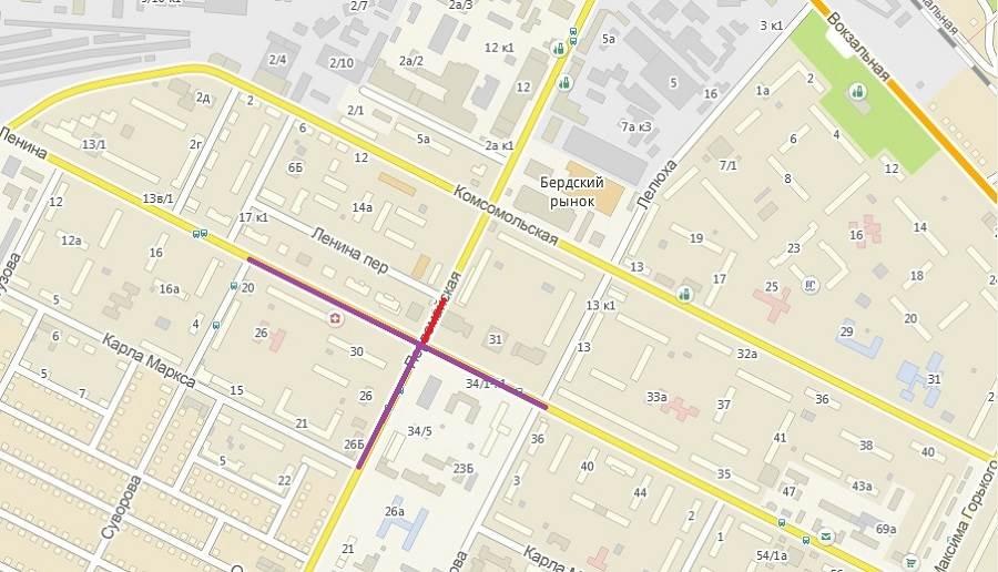 Изменится схема движения ТС по центру Бердска