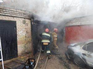 В Линево горел автомобиль