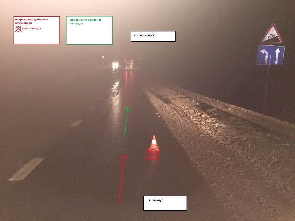 Водитель грузовика не разглядел на трассе пешехода и сбил его насмерть