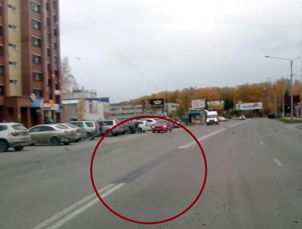 ФОТОФАКТ: В Бердске закрасили двойную сплошную