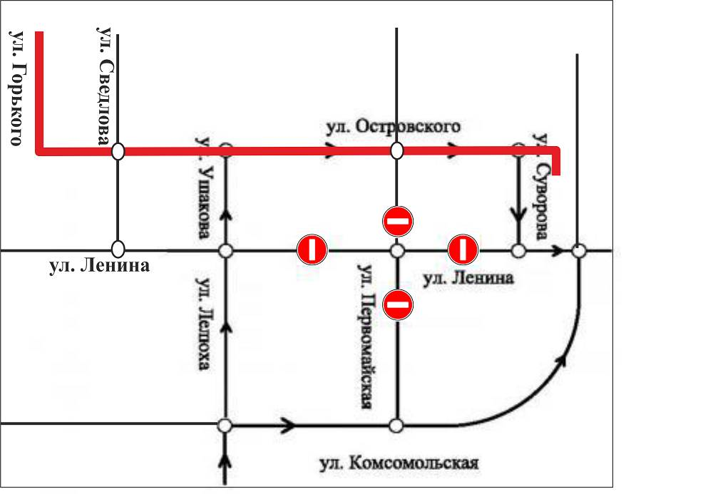 На час меняется схема движения ТС по центру Бердска 4 ноября