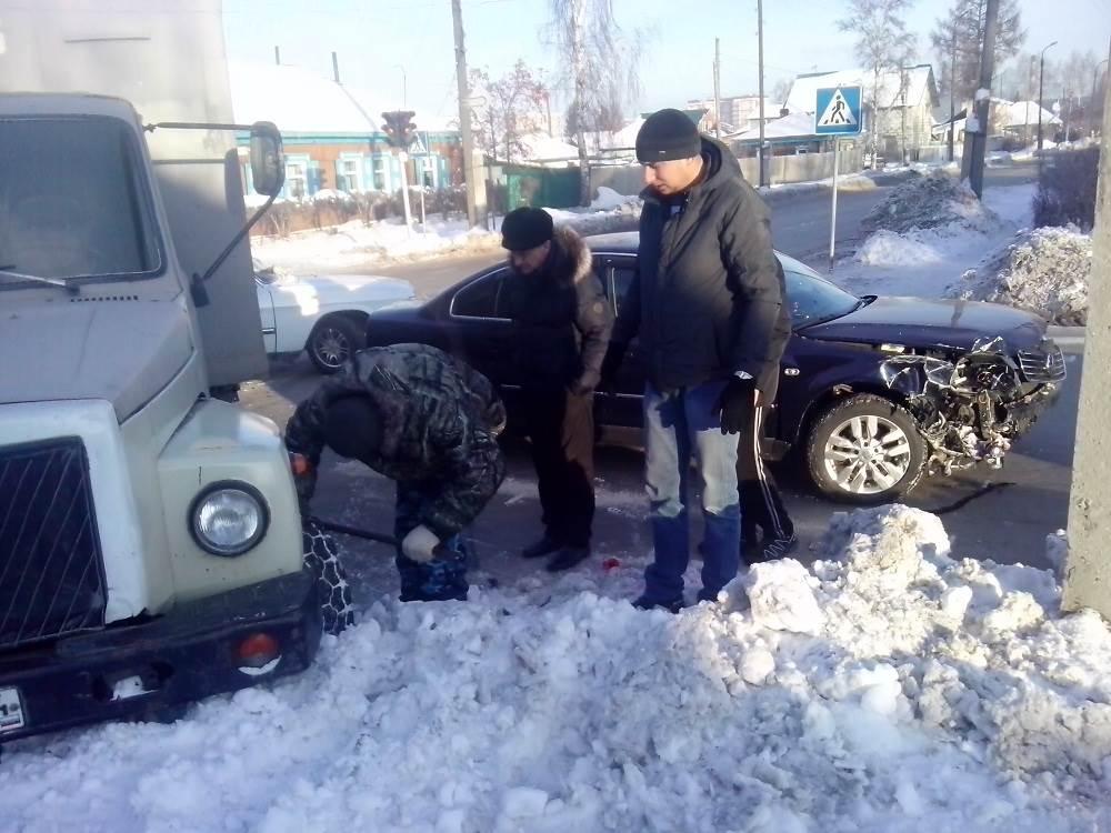 Разобрались и разъехались после ДТП в Бердске