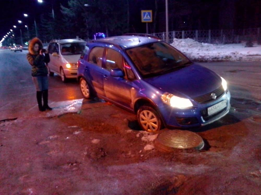 Коммунальная авария с двумя ДТП на перекрестке в Бердске
