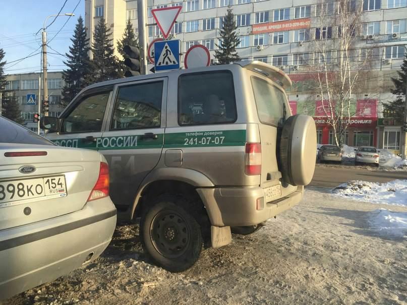 Бердские гаишники оштрафовали водителя федеральной службы