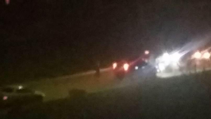 В Бердске ночной «мотогонщик» не справился с управлением (видео)