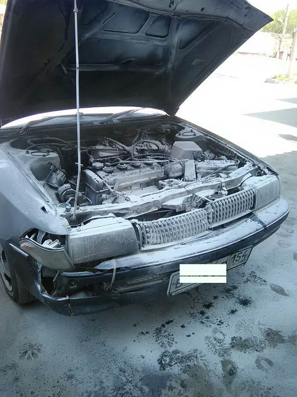 Хозяин иномарки самостоятельно ликвидировал возгорание своего авто в Бердске