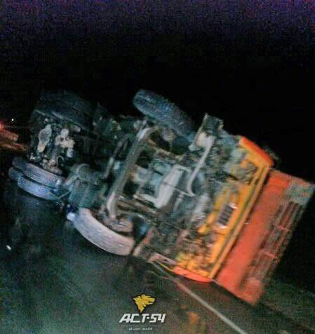 Три грузовика жестко столкнулись на трассе под Искитимом