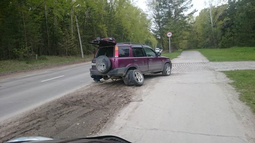 Новосибирец потерял колесо в Бердске