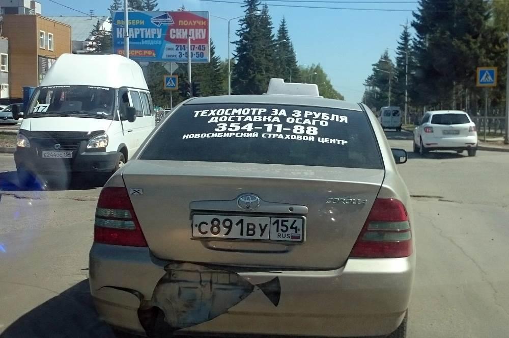 ФОТОФАКТ: Бесплатная реклама 3-рублевого техосмотра в Бердске