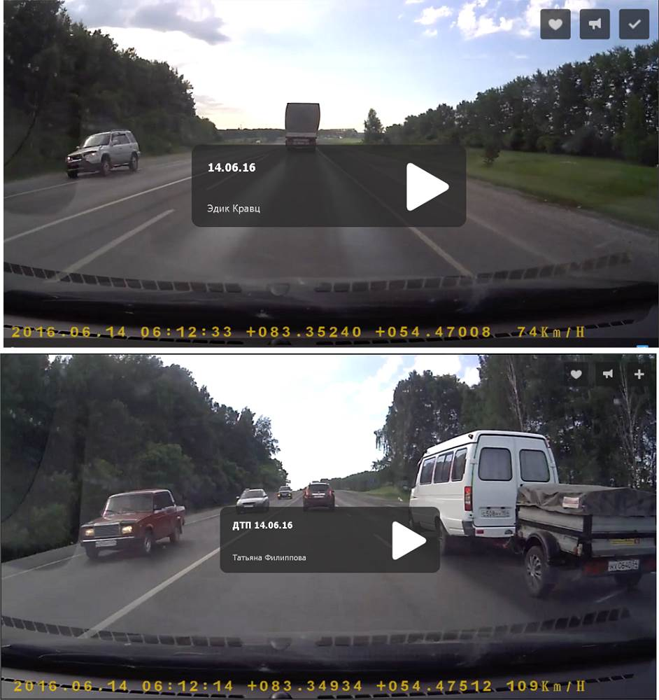 ВИДЕОФАКТ: За 15 секунд до ДТП в Искитимском районе
