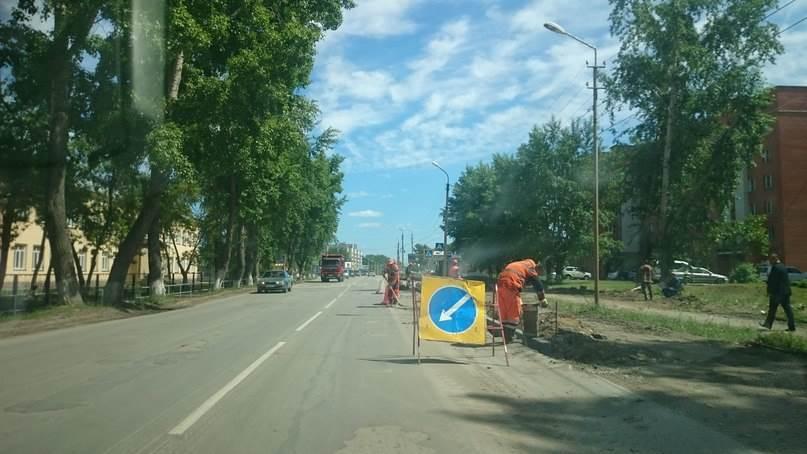 Дорога на обновляемом участке ул. Ленина в Бердске останется 8-метровой