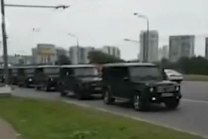 Прокатились на «геликах» по столице выпускники Академии ФСБ