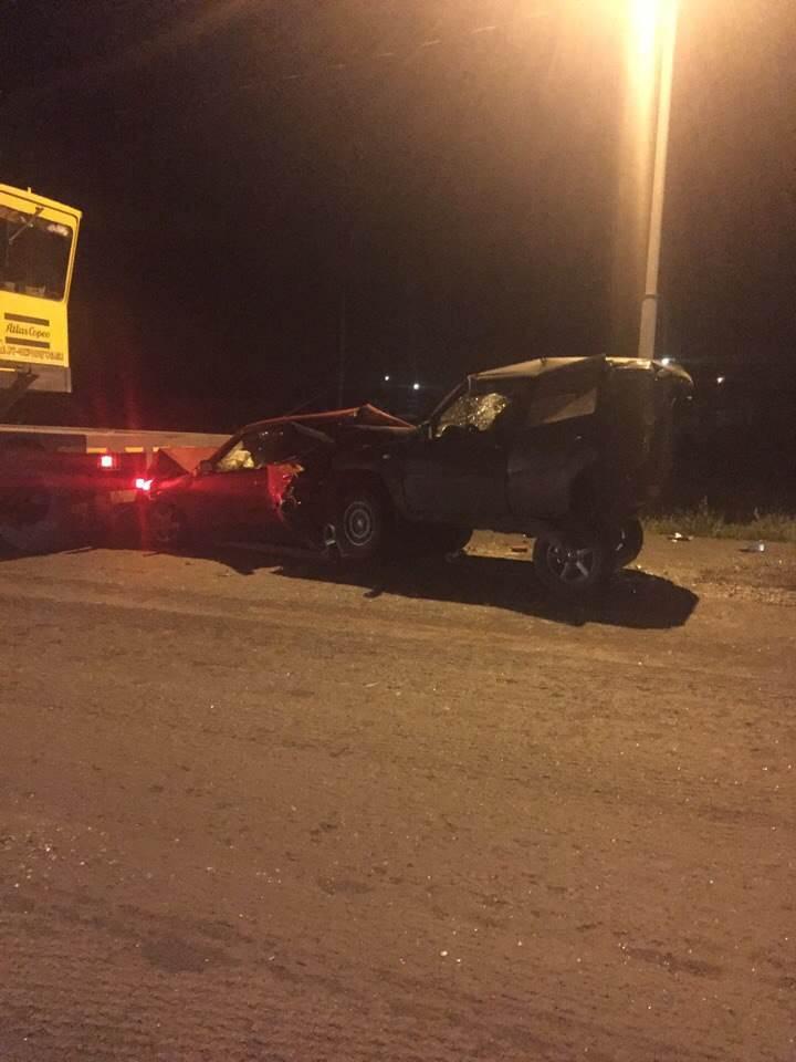 В массовом ДТП на трассе М-52 в районе Линёва пострадали 4 человека