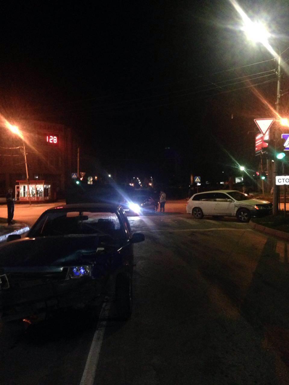 Авария на ночной дороге в Бердске