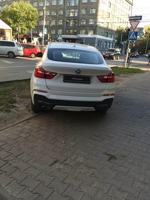 Олимпийский призер Миша Алоян бросил машину на газоне (фото)