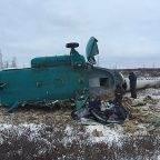 МЧС РФ по НСО: При крушении вертолета МИ-8 погиб житель Новосибирской области