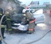 «Hyundai Tucson» в Бердске загорелся на ходу из-за короткого замыкания