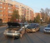 «Слепое» столкновение автомобилей на перекрёстке в Бердске
