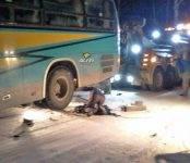 Автобус с детьми задавил насмерть водителя на трассе М-52 в Бердске