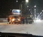 «Газель» бердских спасателей попала в ДТП на перекрёстке в Бердске