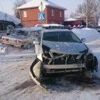 В автомобиль охранного предприятия в Бердске врезалась «штатская» «Тойота»