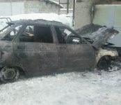 В Черепаново сгорел автомобиль ВАЗ