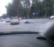 До двух лет грозит водителю, сбившему мотоциклиста в Академгородке (видео)