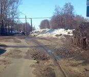Весна в Бердске: На дорогах обнаружена «обнажёнка»