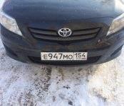 В Бердске угнали чёрную «Тойоту Королла», госномер Е 947 МО регион 154