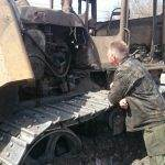 Сгорел на работе бульдозер бердского полигона бытовых отходов
