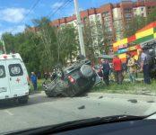 В ДТП на перекрёстке в Бердске пострадала пассажирка «перевёртыша»