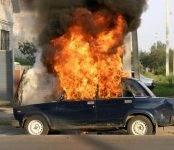 Заживо сгорели дети в «шестёрке» под Новосибирском