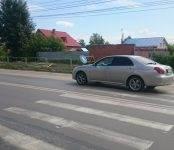 Иномарка сбила попутного велосипедиста в Бердске