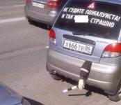 ИДПС в Сургуте остановили автомобиль с торчащей из багажника рукой полицейского