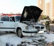 «Волга» загорелась в Кировском районе Новосибирска
