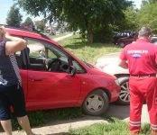 Два автомобиля повредила автоледи в тройном ДТП в Бердске