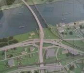 100 рублей за 100 км/ч: в Новосибирске представлен макет четвертого моста