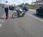Harley-Davidson сбила Škoda Rapid на трассе М-52 под Бердском