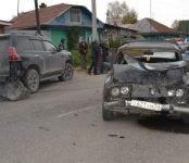 Первый день октября отметился в Бердске жёстким столкновением двух автомобилей