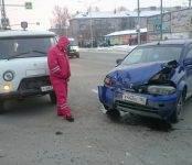 «Хонда-HRV» таранила УАЗ-«санитарку» на перекрёстке в Бердске