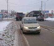 Большегруз жёстко припечатал легковушку на перекрёстке в Бердске