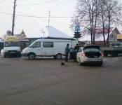 «Форд Фокус» таранил машрутку №15 на перекрёстке в Бердске