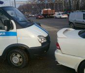 Полицейский автозак попал в ДТП в Бердске